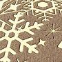 Złocone kartki świąteczne dla firm z logo